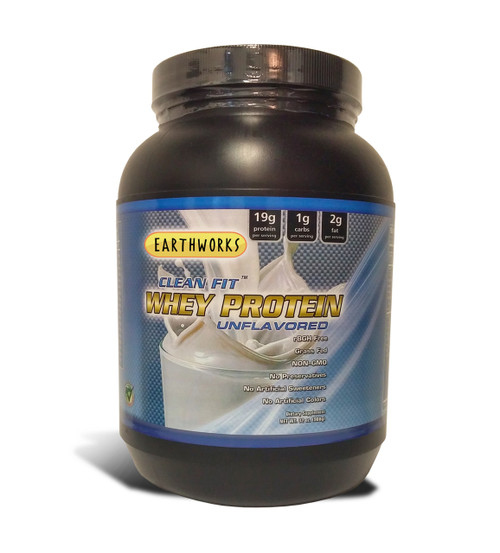 Dave Hawkins' EarthWorks EW Clean Fit Whey Protein - Unflavored 32 OZ PWD