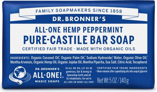 Dr. Bronner's Pure-Castile Bar Soup - Peppermint