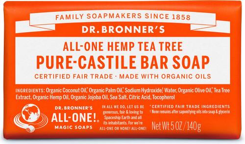 Dr. Bronner's Pure-Castile Bar Soup - Tea Tree