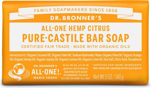 Dr. Bronner's Pure-Castile Bar Soup - Citrus