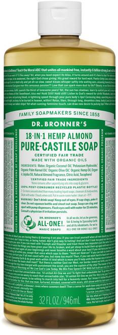 Dr. Bronner's Pure-Castile Liquid Soup - Almond 32 fl oz