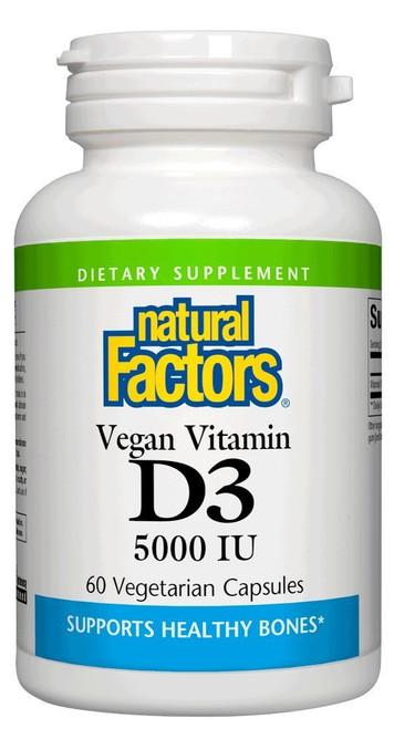 Natural Factors Vegan Vitamin D3 5,000 IU 60 Vcaps