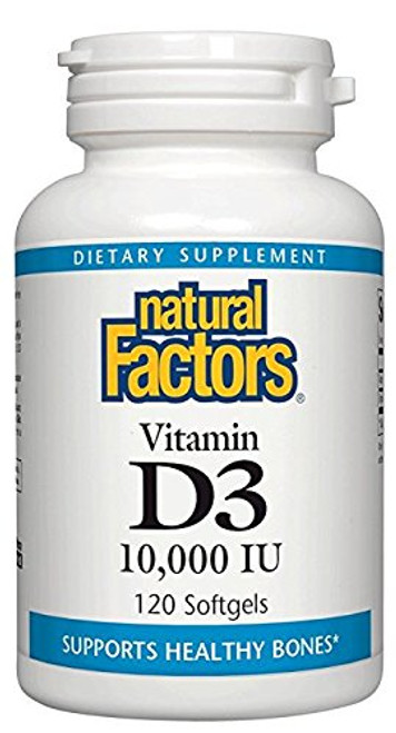 Natural Factors Vitamin D3 10000 IU 120 SG