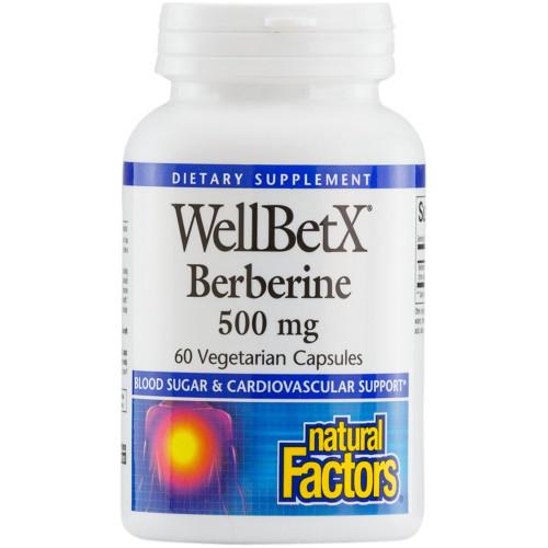 Natural Factors WellBetX Berberine 500 mg 60 Vcaps