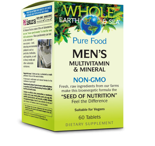 Natural Factors Whole Earth & Sea Men's Multivitamin 60 Tabs