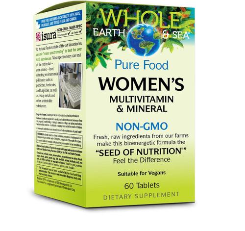 Natural Factors Whole Earth & Sea Women's Multivit - 60 Tabs