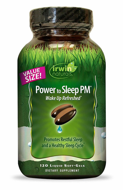 Irwin Naturals POWER TO SLEEP PM (Economy) 120 gel caps