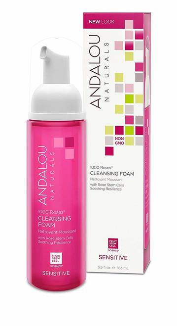 Andalou Naturals Cleansing Foam 1000 Roses - 5.5 Oz