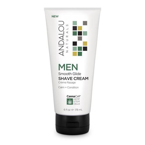 Andalou Naturals Shave Cream Men's Smooth 6 Oz