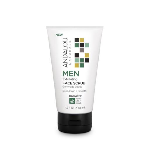 Andalou Naturals Face Scrub Men's Exfoliating 4.2 Oz