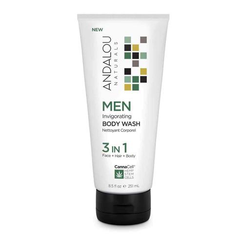 Andalou Naturals Body Wash Men's Invigorating 8.5 Oz
