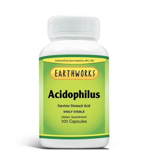 Acidophilus 100 Caps by Dave Hawkins' EarthWorks