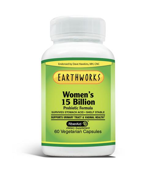 Women's 15 Billion Probiotic 60 by Dave Hawkins' EarthWorks