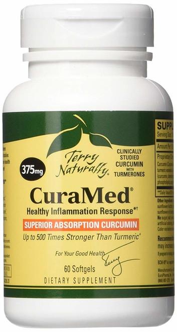 CuraMed Superior Absorption Curcumin 375 mg 60 SG