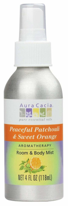 Aura Cacia Peaceful Patchouli & Sweet Orange Spray 4 oz