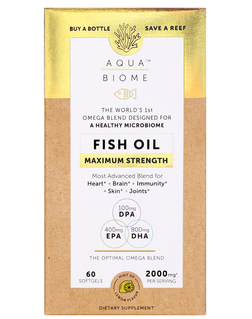 Enzymedica Aqua Biome Fish Oil Maximum Strength 60 SG