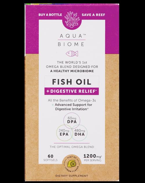 Enzymedica Aqua Biome Fish Oil + Digestive Relief 60 SG
