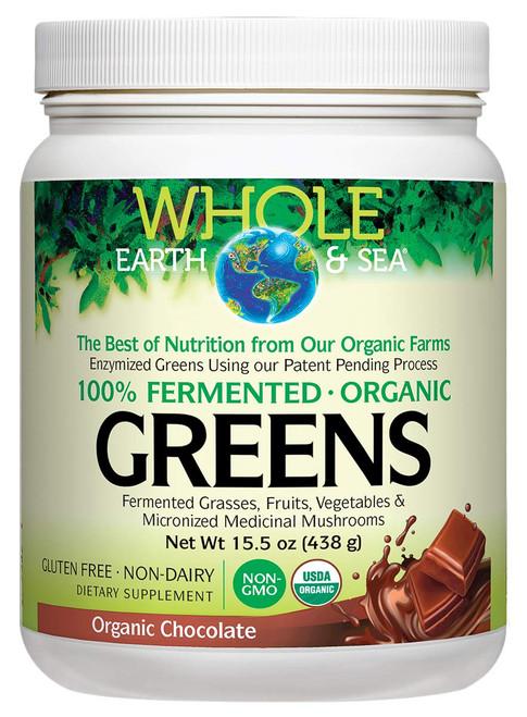 Natural Factors Whole Earth & Sea Organic Greens - Chocolate 15.5 oz