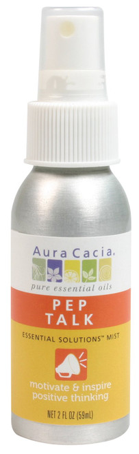 Aura Cacia Pep Talk Essential Solutions Mist 2 oz
