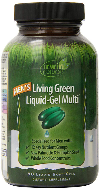 Irwin Naturals Men's Living Green Liquid-Gel Multi 90 sg