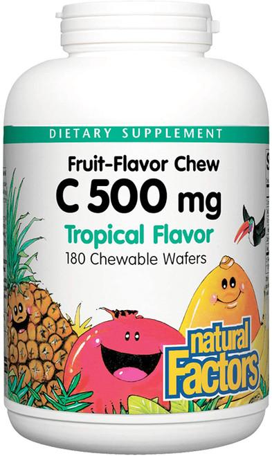Natural Factors Chewable Vitamin C Jungle Juice - 90 wafers