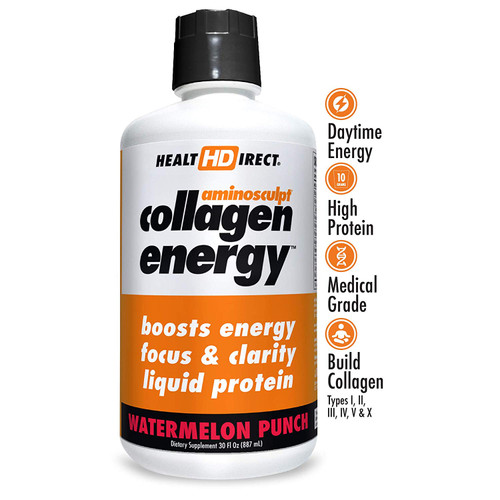 HealtHDirect Collagen Energy - Watermelon Punch 30 oz