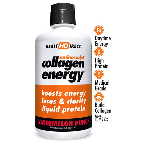 HealtHDirect Collagen Energy - Watermelon Punch 15 oz
