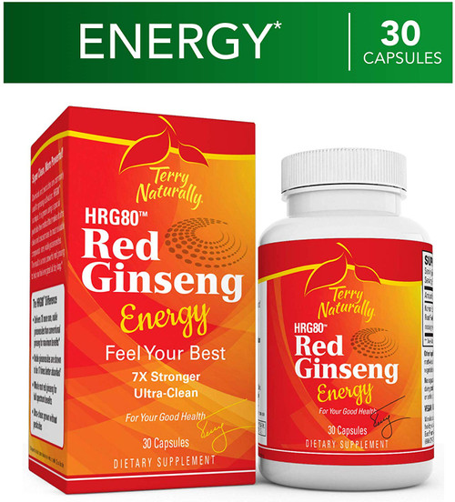 Terry Naturally Red Ginseng Energy 30 caps