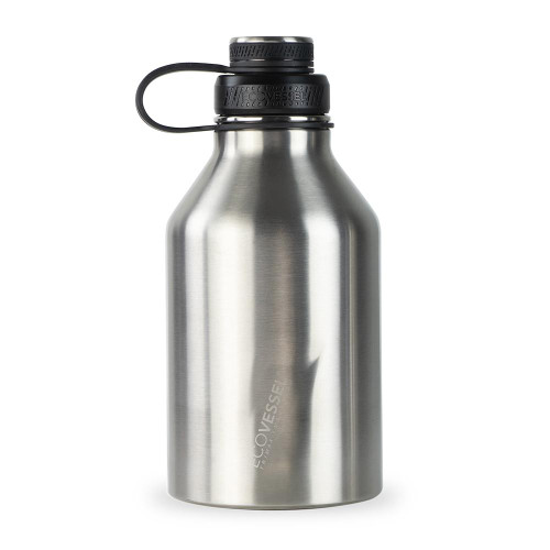 EcoVessel BOSS Insulted Growler Silver Expr 64 oz