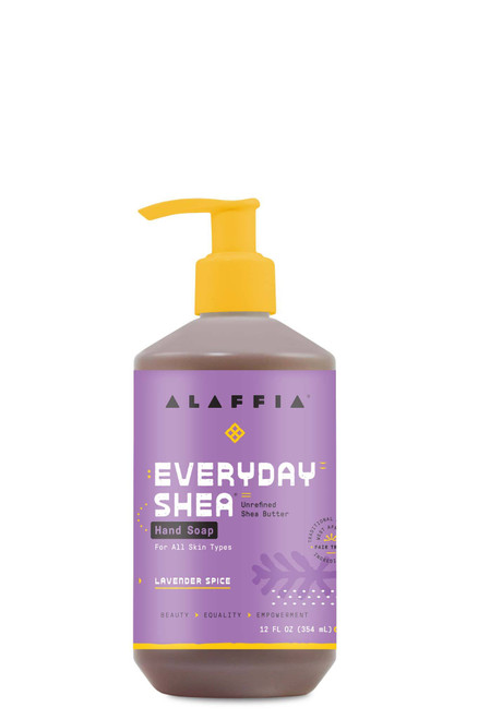 Alaffia Coconut Reishi Everyday Shea Unrefined Shea Butter Hand Soap Lavender Spice 12 oz