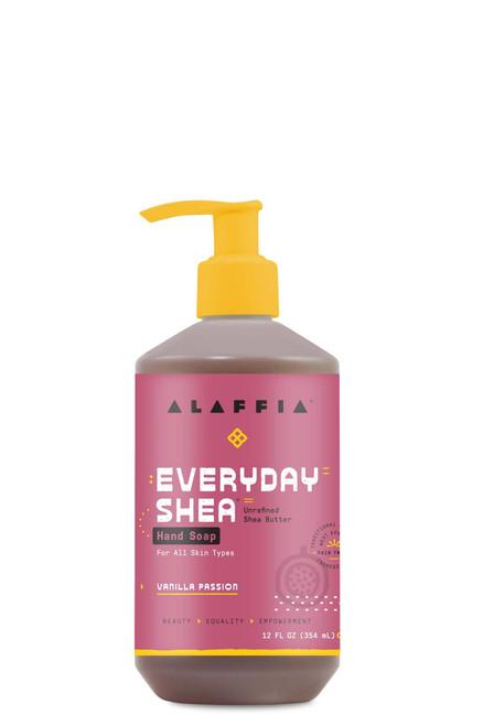 Alaffia Coconut Reishi Everyday Shea Unrefined Shea Butter Hand Soap Vanilla Passion 12 oz