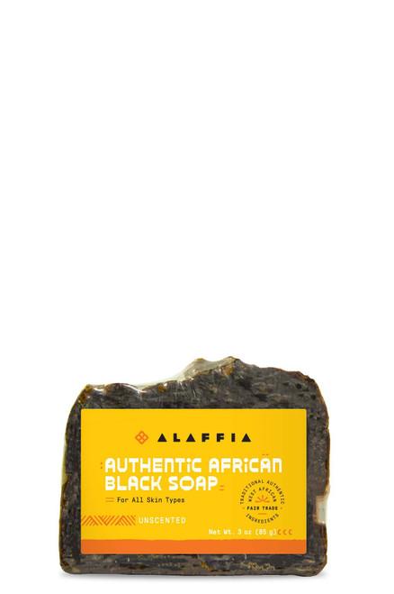 Alaffia Authentic African Black Soap Unscented 3 oz