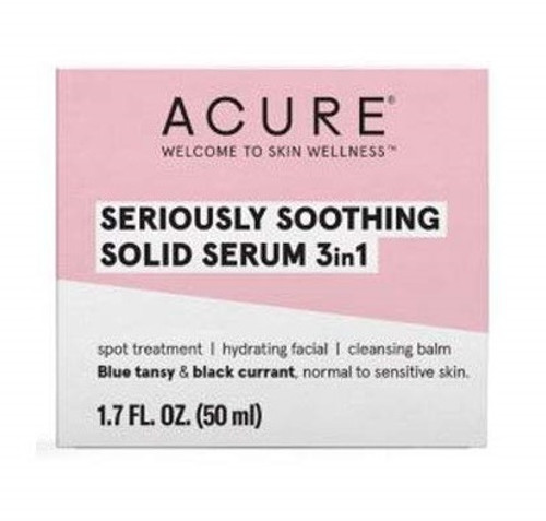 Acure Seriously Soothing Solid Serum 3in1 1.7 oz