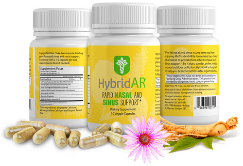 Hybrid Remedies HybridAR Rapid Nasal and Sinus Support 10 caps