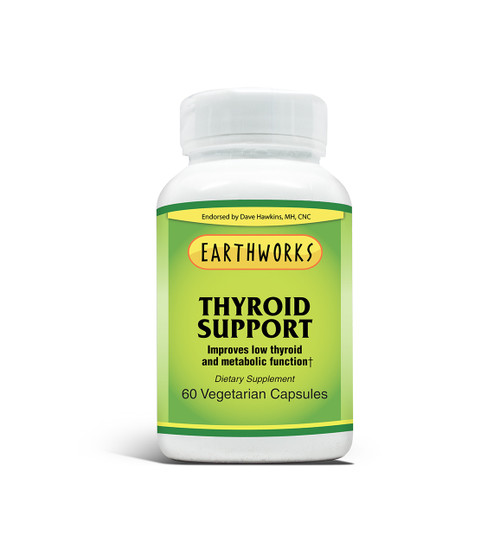 THYROID SUPPORT 60 Caps by Dave Hawkins' EarthWorks