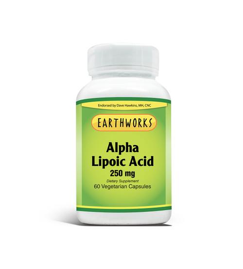 Alpha Lipoic Acid 250 60 V-Cap by Dave Hawkins' EarthWorks