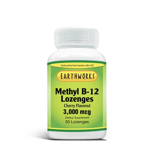 Vitamin B-12 Lozenge 3000 mcg 50 loz by Dave Hawkins' EarthWorks