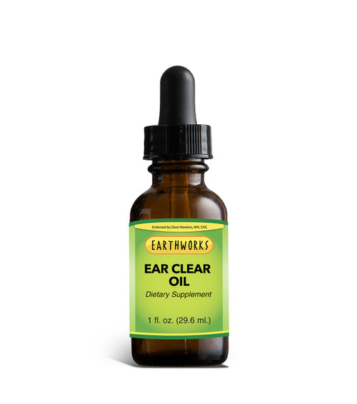 Ear Clear Oil 1 oz by Dave Hawkins' EarthWorks
