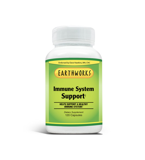 Immune Support 60 Caps by Dave Hawkins' EarthWorks (Limit 1 per Customer)