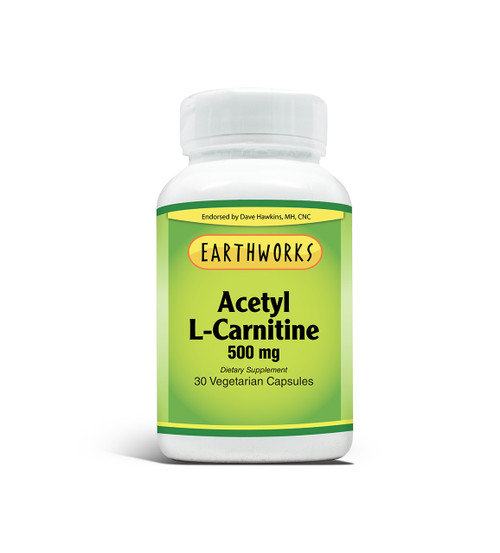 Acetyl L-Carnitine 500 mg 30 V-Cap by Dave Hawkins' EarthWorks