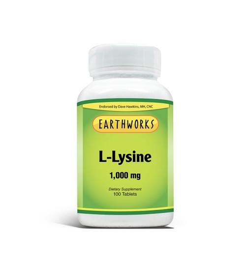L-Lysine 1000 mg 100 Tablet by Dave Hawkins' EarthWorks