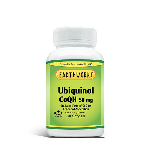 Ubiquinol COQH 50 Mg 60 by Dave Hawkins' EarthWorks