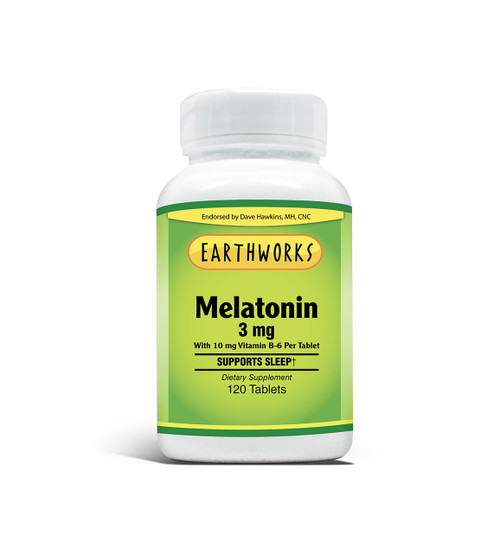 Melatonin 3 mg by Dave Hawkins' EarthWorks