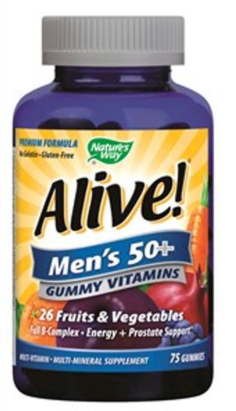ALIVE MENS 50 GUMMY VTMN 75CT