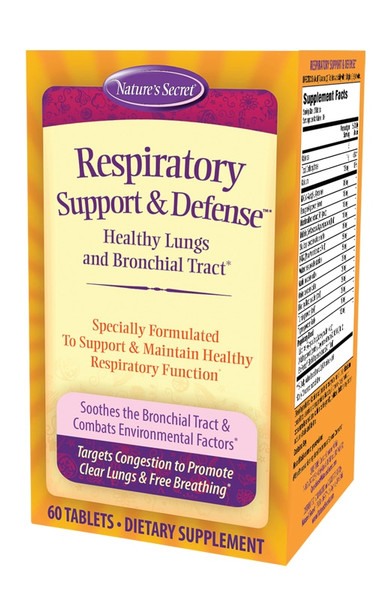 Nature's Secret Respiratory Support & Defense 600 mg NAC 60 tabs