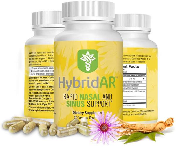 Hybrid Remedies HybridAR Rapid Nasal and Sinus Support 30 caps