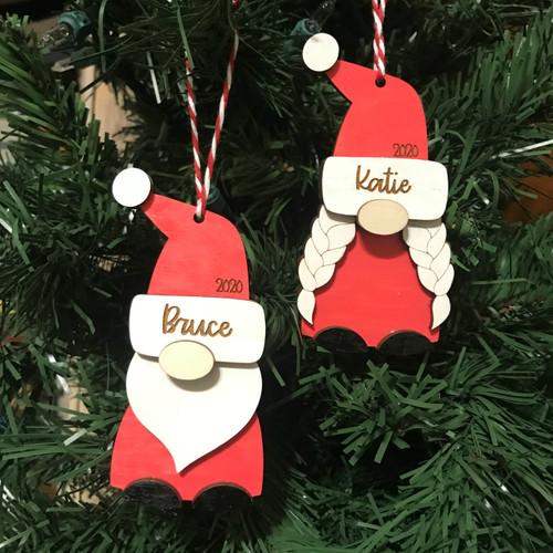 2021 Christmas Gnome Ornament