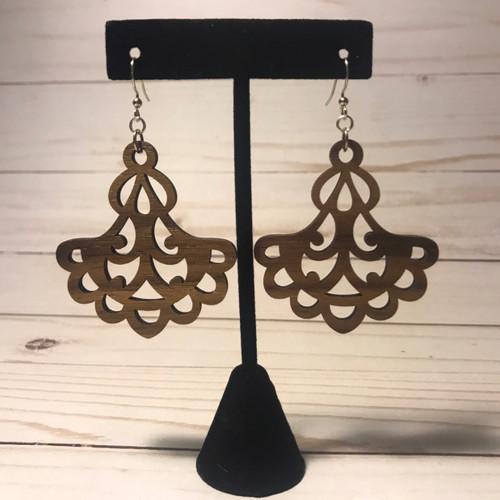Fancy Wooden Earrings