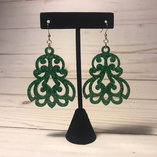 Sparkly Green Earrings