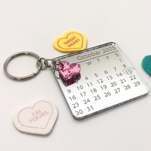 Date of Love Calendar Keychain